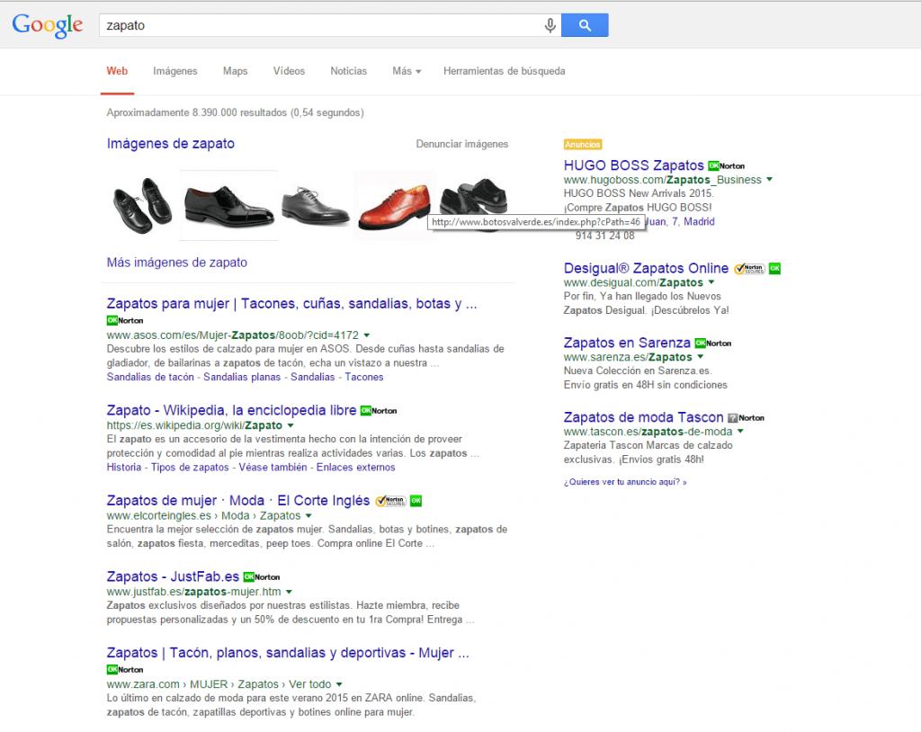 busqueda-de-zapato-en-Google