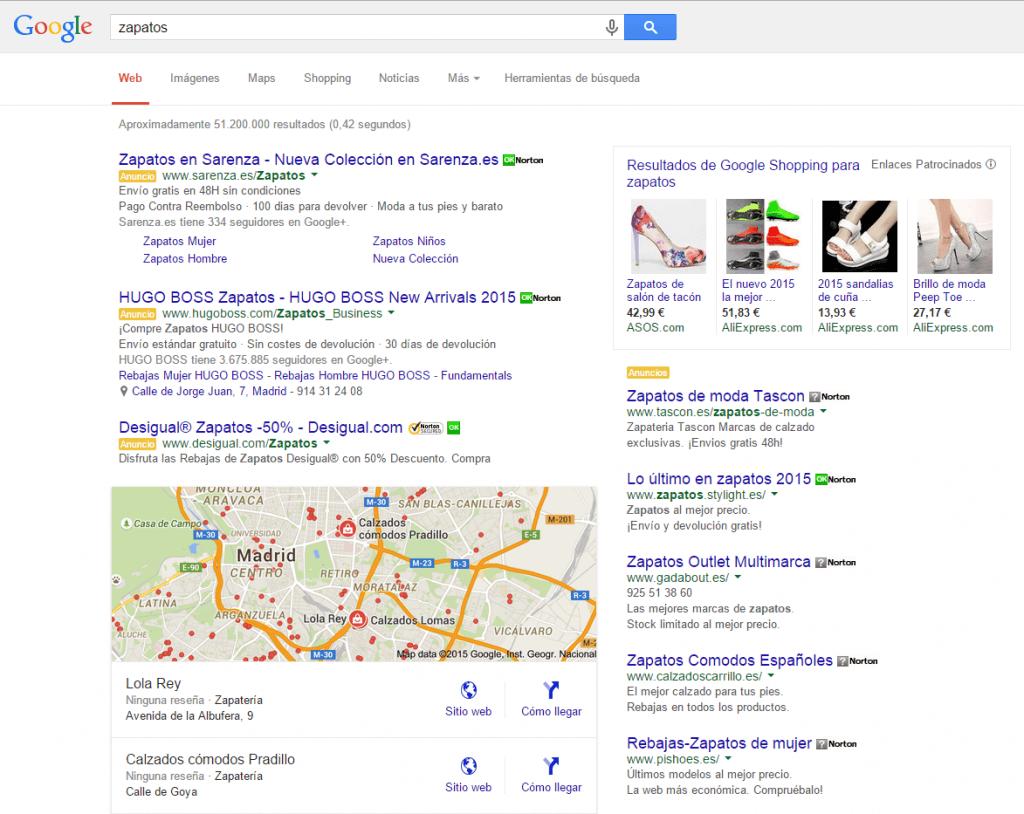 busqueda-de-zapatos-en-Google