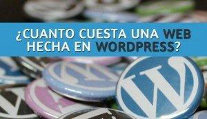 Cuánto cuesta una página web en WordPress